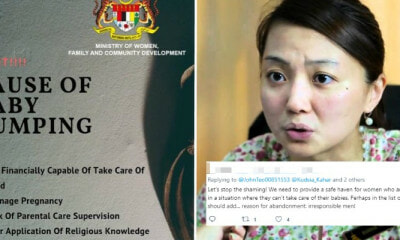 Baby-Dumping Poster Released By Women's Ministry Under Fire For Victim Blaming - WORLD OF BUZZ 6