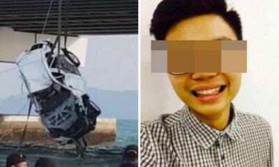 BREAKING: Mazda SUV in Penang Bridge Crash Finally Pulled Out From Sea, Victim's Body Found Inside - WORLD OF BUZZ