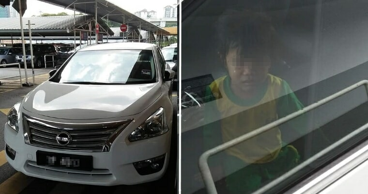 Cheras Dad Leaves Daughter Crying & Sweating in Locked Car While He Goes Out Shopping - WORLD OF BUZZ