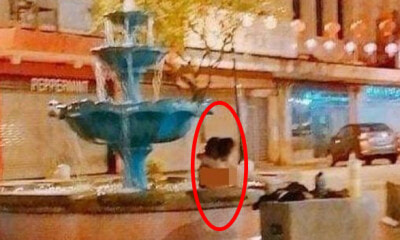 "Couple Spotted ""Topless"" In A Fountain At KK's Gaya Street Goes Viral - WORLD OF BUZZ 1"