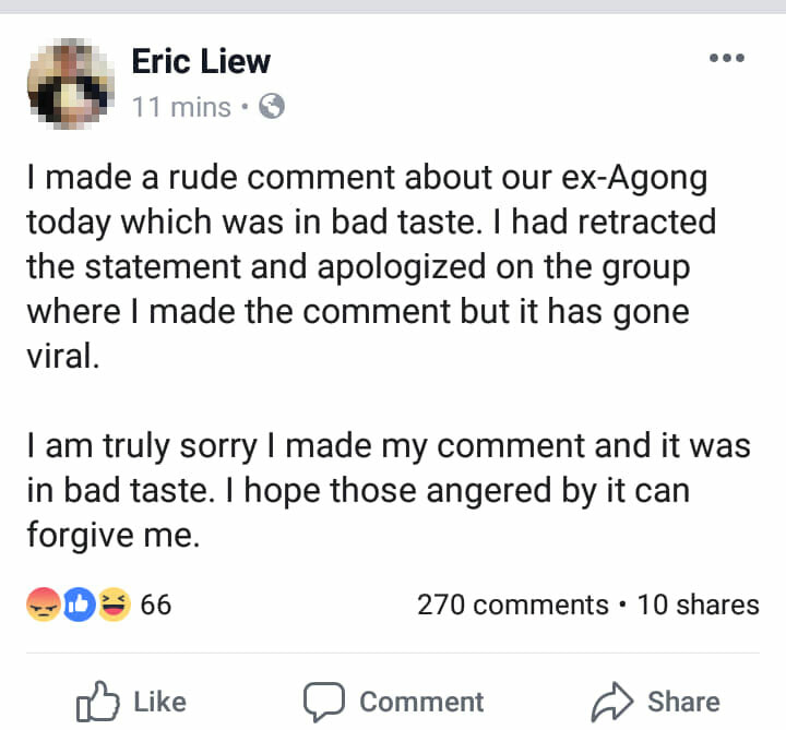 Eric Liew & 2 Other M'sians Arrested For Sedition Over Rude Comments About Agong's Resignation - WORLD OF BUZZ