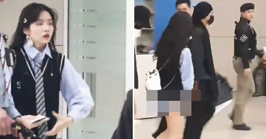 Half Naked Girl Allegedly Stalks BTS Idol, Netizens Outraged - WORLD OF BUZZ 8