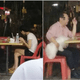 Man Criticised For Smoking At The Mamak With His Dog Seating On A Chair Beside Him - WORLD OF BUZZ 1