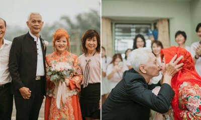 M'sian Couple Celebrates 50 Years of Marriage By Re-Marrying Each Other in a Traditional Chinese Wedding - WORLD OF BUZZ