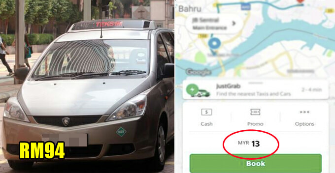 M'sian Woman Gets Charged RM94 For 15-KM Taxi Ride, Guess How Much It'd Cost If She'd Taken Grab - WORLD OF BUZZ