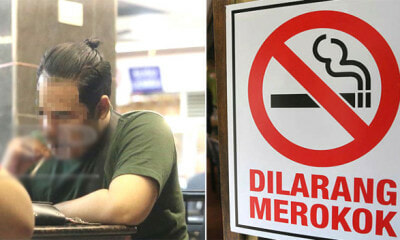 M'sians Found Puffing Away Right Under No-Smoking Sign Despite Smoking Ban Comes Into Effect - WORLD OF BUZZ