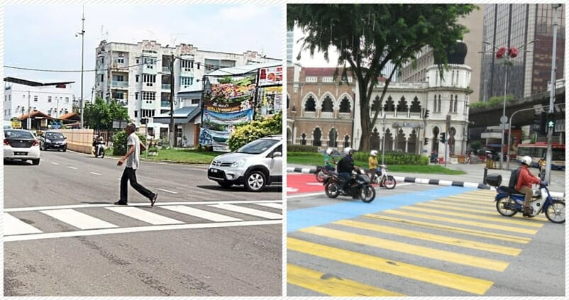 Netizen Wants M Sian Drivers To Know Why Zebra Crossings Have Different Colours World Of Buzz