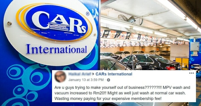 Netizens Slam Car Wash Company For Price Hike - WORLD OF BUZZ 2