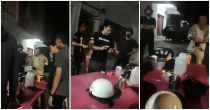 Netizens Triggered At Video Of Cops Puffing Away At Eateries, Despite Smoking Ban - WORLD OF BUZZ 4