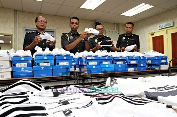 Over 1,000 Fake Adidas Goods Worth RM170,000 Seized From Seremban Mall - WORLD OF BUZZ