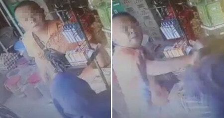 Penang Man Slaps Female Cashier For Telling Him He Could Only Buy 2 Packets of Oil - WORLD OF BUZZ 1