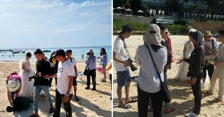 """Seven """"Tourists"""" Taking Pre-Wedding Photo Shoot In Phuket Arrested for Violating Visas - WORLD OF BUZZ 5"""