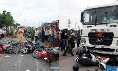 Truck Driver Flees After Ramming 20 Motorbikes, Killing 6 People & Injuring 22 - WORLD OF BUZZ