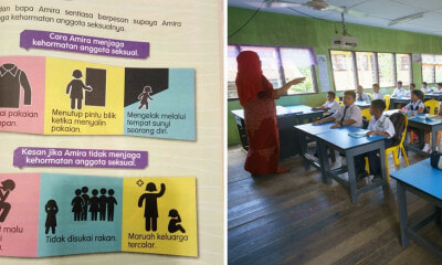 "Viral Photo of Std 3 Textbook Teaching Girls How to ""Protect Modesty of Private Parts"" Outrages M'sians - WORLD OF BUZZ"