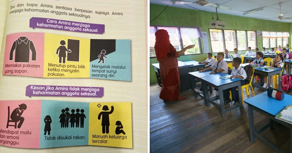 """Viral Photo of Std 3 Textbook Teaching Girls How to """"Protect Modesty of Private Parts"""" Outrages M'sians - WORLD OF BUZZ"""