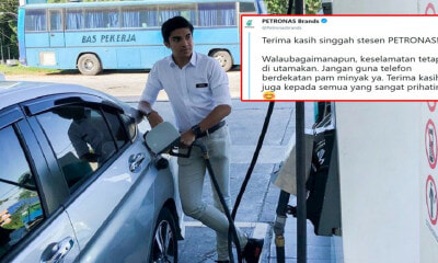 Viral Photo of Syed Saddiq Filling Petrol Prompts Petronas to Advise His Team Not to Use Phones Near Pumps - WORLD OF BUZZ