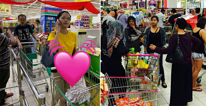 "Woman Shares How She Was Assaulted and Called ""K*ling"" For Holding Up The Queue at Hypermarket - WORLD OF BUZZ"