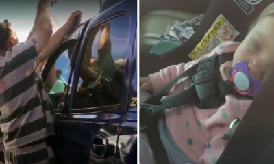 Convicts Use Their Criminal Skills to Save 1yo Baby Girl Trapped in Locked Car - WORLD OF BUZZ 2