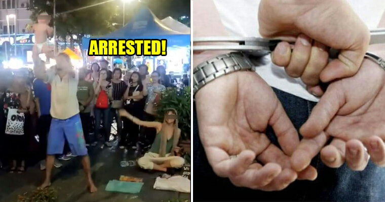 """Cops Arrests Bukit Bintang """"Begpackers"""" For Endangering Child, May Face Up to 10 Years Prison If Convicted - WORLD OF BUZZ 3"""