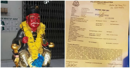 Datuk Kong Statue In Surau To Be Investigated By The Police - WORLD OF BUZZ