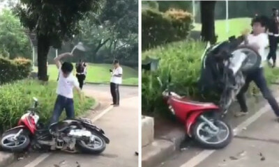 Man Goes on Rage Fit & Dismantles Motorcycle Because Cop Gave Him Traffic Summons - WORLD OF BUZZ 4