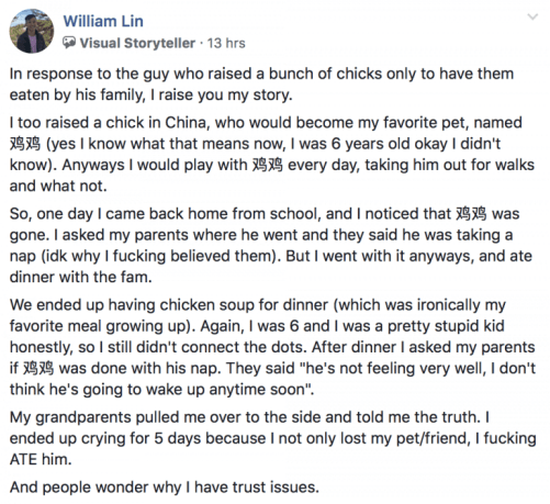 """Man Shares Story About How Childhood Pet Chicken """"Disappeared"""", Netizens Relate - WORLD OF BUZZ 4"""