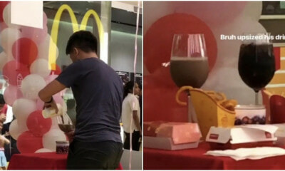 McDreamy! S'porean Man Prepares Romantic Spread in McDonald's with Coke and Twister Fries - WORLD OF BUZZ