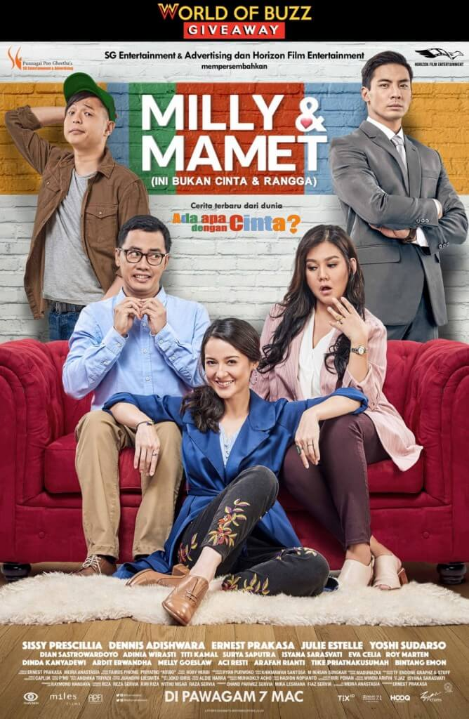 Milly & Mamet (Ini Bukan Cinta & Rangga) Ticket Giveaway - WORLD OF BUZZ