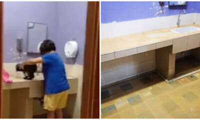 M'sian Outraged at Woman Bathing Dog in (Place) R&R Despite Telling Her to Stop - WORLD OF BUZZ