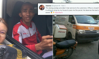 M'sian Woman Shares How Abang Poslaju Delivered Package to Her House When Her Office Was Closed - WORLD OF BUZZ