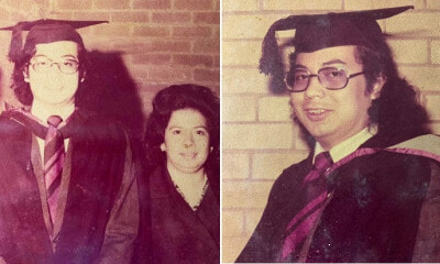 "Najib Shares His Graduation Picture From 1974 & Says He Looks ""Cool"" With Long Hair - WORLD OF BUZZ 1"