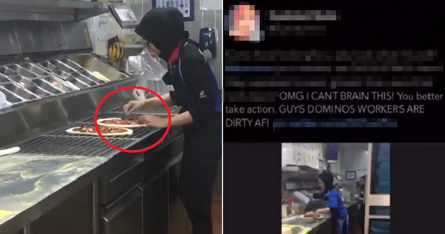 Netizen Calls Out M'sian Domino's Workers For Not Wearing Gloves, Gets Backlash Instead - WORLD OF BUZZ