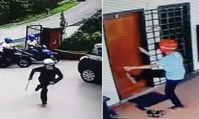 Seven Robbers With Parang Ambush Man Who's Parking Car In Puchong House - WORLD OF BUZZ 2