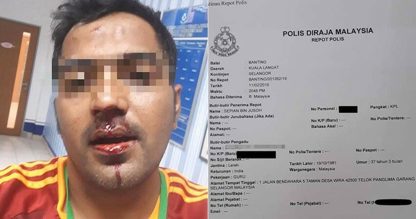 Teacher in Banting Allegedly Dates a 19yo, Gets Punched in the Face by Her Uncle - WORLD OF BUZZ