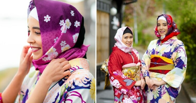 This Japanese Company Has Started Making Kimonos With Hijabs For Muslim Women - WORLD OF BUZZ 6