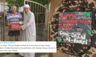 This Mufti Won Praises from Malaysians Because He Gifts Cakes to His Chinese Neighbours Every CNY! - WORLD OF BUZZ