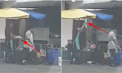 Video: Seafood Restaurant Worker In Kota Kemuning Caught Smashing Fish On The Road To Kill It - WORLD OF BUZZ 2