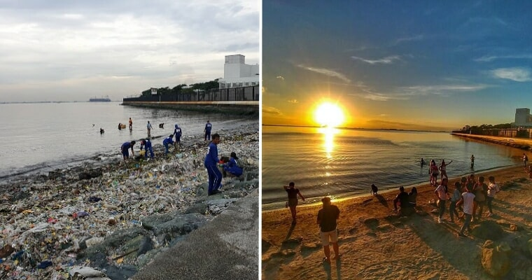 Volunteers Clean 45 Tonnes Of Garbage Off Manila Bay Beach, You Won't Believe The Transformation - WORLD OF BUZZ 3