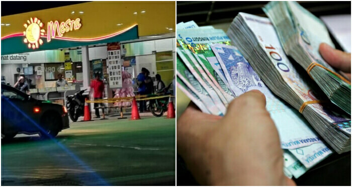 3 Men Steal RM105k and Leave RM5 Million Behind After Robbing Petrol Station in Rawang - WORLD OF BUZZ