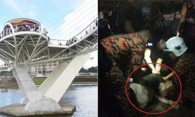 36yo Man Attempts To Take A Selfie At Sarawak's Bridge But Slips & Plunges Into River - WORLD OF BUZZ 4