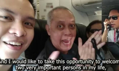 Air Asia Pilot Surprises Parents With Touching Announcement On Their First Flight Together - WORLD OF BUZZ 3