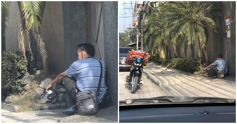 Deliveryman Waits Hours To Deliver Parcel, Netizen Reveals The Unseen Sight Of Online Shopping - WORLD OF BUZZ 4