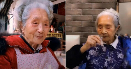 This 98yo Grandma With Dentures Goes Viral Because She Loves Spicy Hotpots, Coke & Alcohol - WORLD OF BUZZ