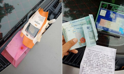 M'sian Received RM150 From Generous Stranger That Realized Her Road Tax Has Expired - WORLD OF BUZZ