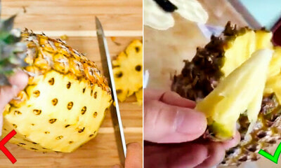 Genius Man Shows Internet The RIGHT Way to Eat Pineapple, And It's So Easy! - WORLD OF BUZZ