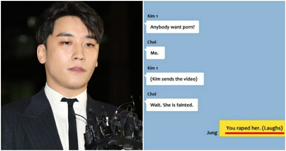K-pop Idols Including Seungri Share Videos of Women Getting Raped in Group Chat - WORLD OF BUZZ 1