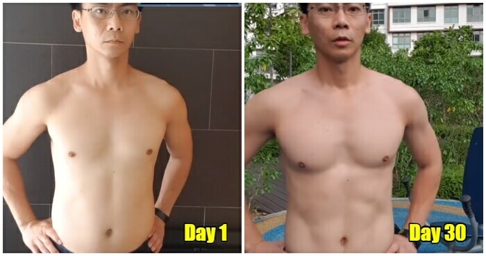 Man Completely Transforms His Body After Trying the One Punch Man Workout Challenge for 30 Days - WORLD OF BUZZ 2