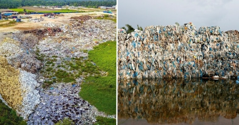 """Massive Illegal Plastic Landfill Found In Penang With """"6 Football Fields"""" Worth Of Trash Piled Two Stories High - WORLD OF BUZZ 3"""