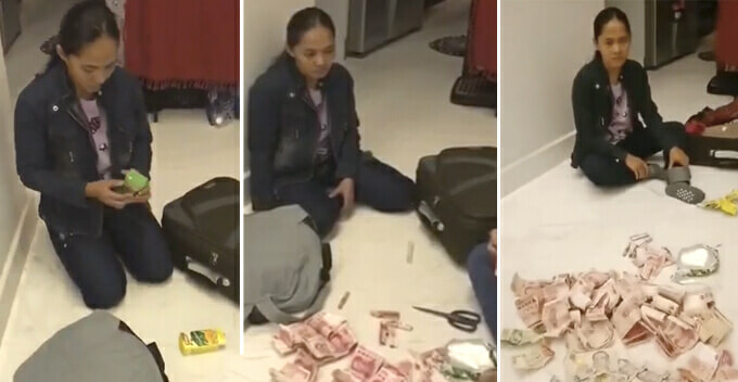 M'sian Employer Kantoikan Maid Who Tries To Smuggle Cash Back To Home Country With Packet Drinks - World Of Buzz