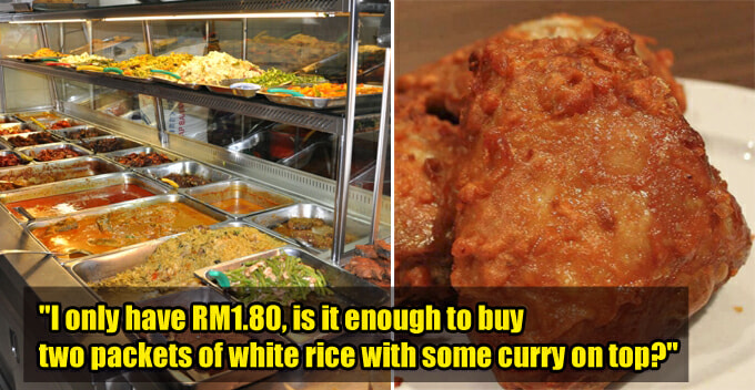 M'sian Man Sees Poor Kid Begging For Money At Mamak, So He 'belanja' 2 Packets Of Rice And 4 Ayam Goreng - World Of Buzz